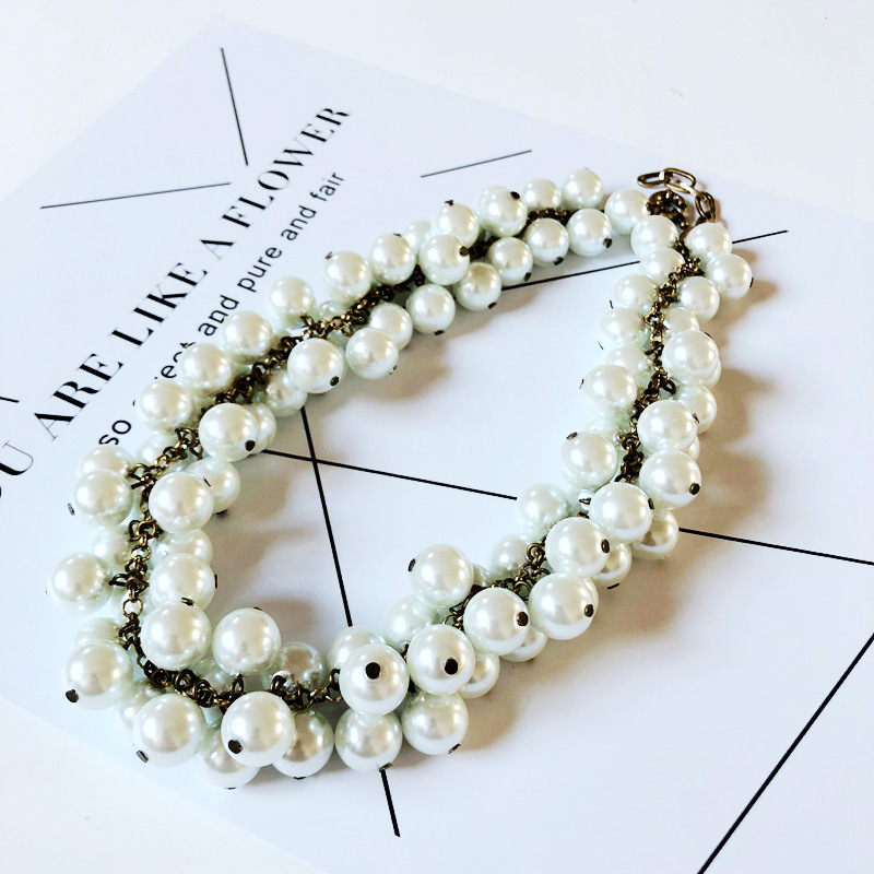 Alloy Fashion  necklace  (Necklace one) NHOM0975-Necklace-one