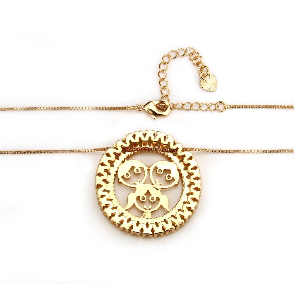 Copper Fashion Geometric necklace  Men and women NHBP0196Menandwomen