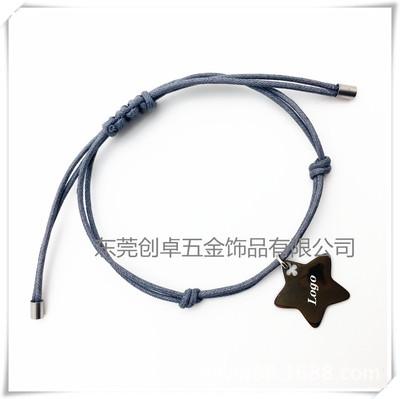销手工编织绳手链,不锈钢编织绳手链,环保手链绳,不锈钢手饰