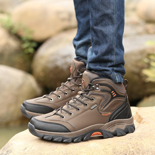 Hiking shoes men's summer non-slip shoes breathable outdoor shoes hiking boots high top new cross-border new large size 454647