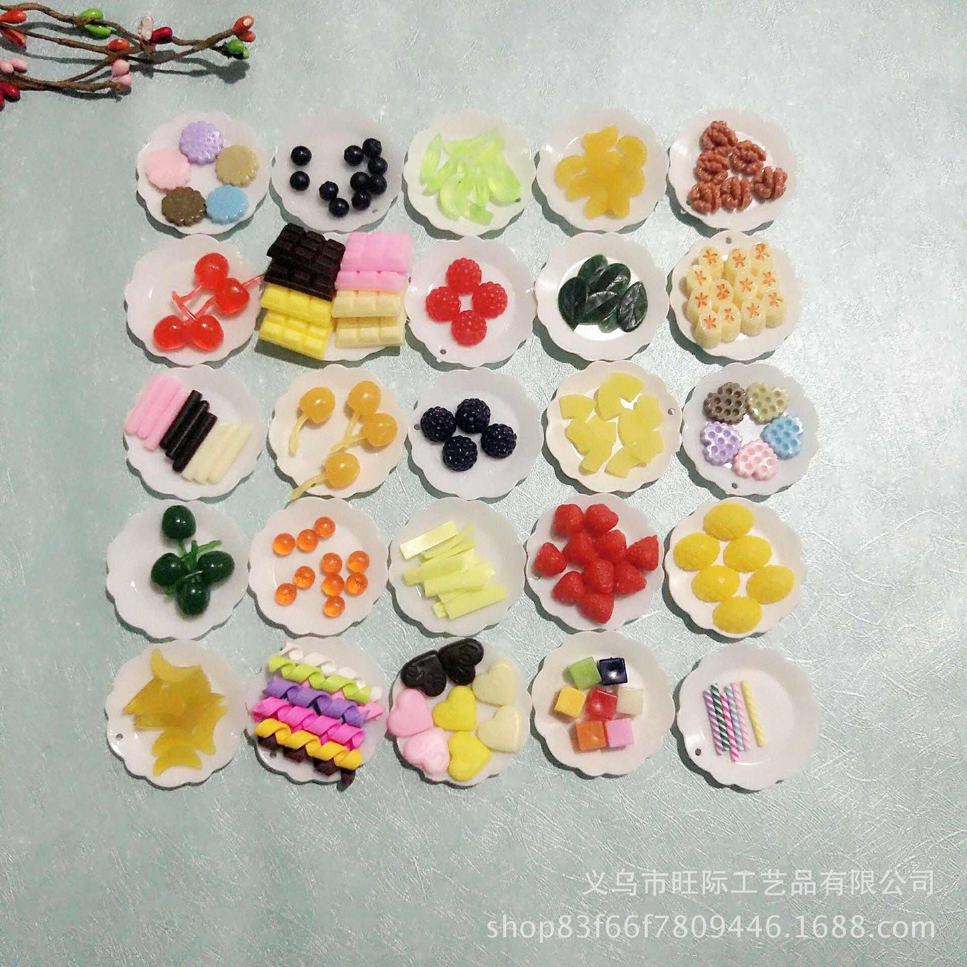 厂家直销仿真食玩粘土蛋糕DIY水果巧克力装饰物草莓樱桃卷卷棒