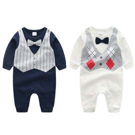 Baby clothing Gentlemen's flat-footed Harper jumpsuit Children full of monthly crawling BH6105