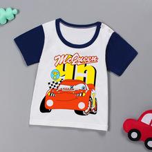 2018儿童新款t恤男童女童韩版T恤婴儿卡通印花短袖宝宝半袖打底衫