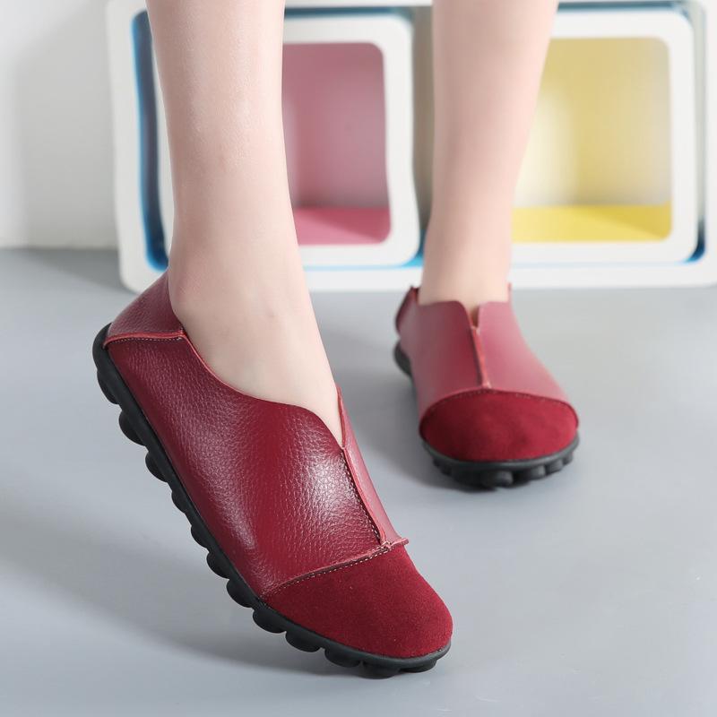 原创手工鞋2018春秋款新款超软舒适平跟休闲真皮鞋日系森女系单鞋