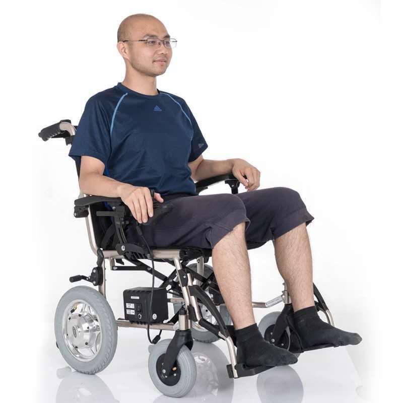 互邦电动轮椅HBLD3-E无刷可拆卸锂电池折叠轻便上飞机老人代步车