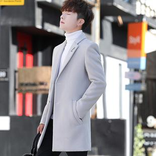 2021 winter men's woolen coat, Korean casual youth coat, double-sided woolen coat, male one generation