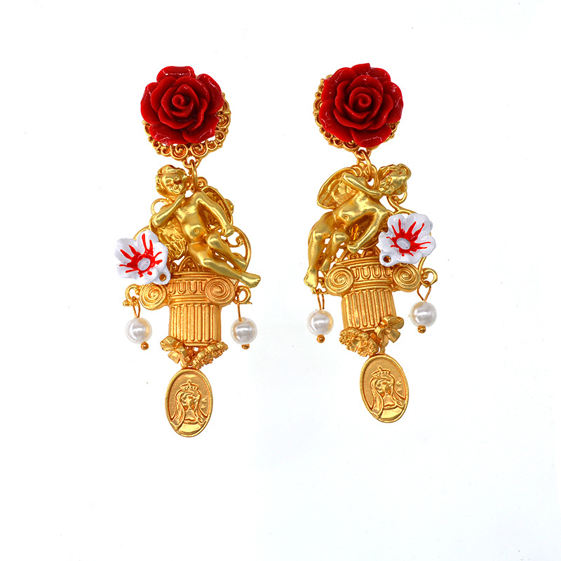 Alloy Vintage Cartoon earring  (Alloy) NHNT0729-Alloy