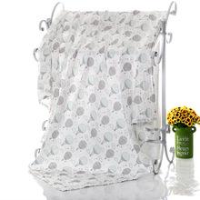浴巾新生儿双层裹单婴儿印花包巾卡通儿童空调盖毯纯棉纱布浴巾