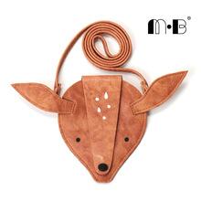 Ins thuần handmade trẻ em Messenger túi đeo vai hình động vật ví tiền xu hoạt hình dễ thương túi bé Túi messenger cho trẻ em