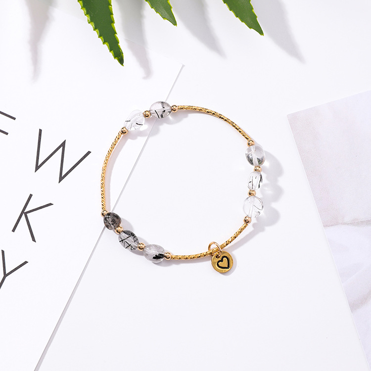 Alloy Korea Geometric bracelet  (K9421 light pink + small fish) NHMS1331-K9421-light-pink-small-fish
