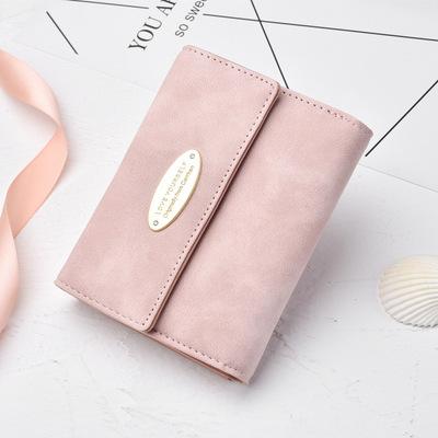 Phụ nữ ví mới của phụ nữ ngắn Tri-fold ví Hàn Quốc đơn giản chà chà Retro thương mại nước ngoài nổ
