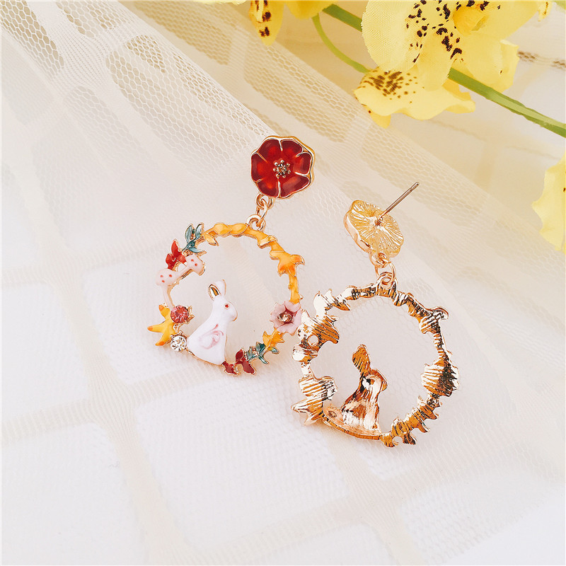 Alloy Fashion Geometric earring(color) NHVA4799-color