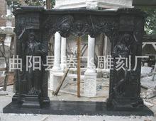 廠家直銷 曲陽雕刻產品 國產黑白根壁爐柱子花盆等可定做