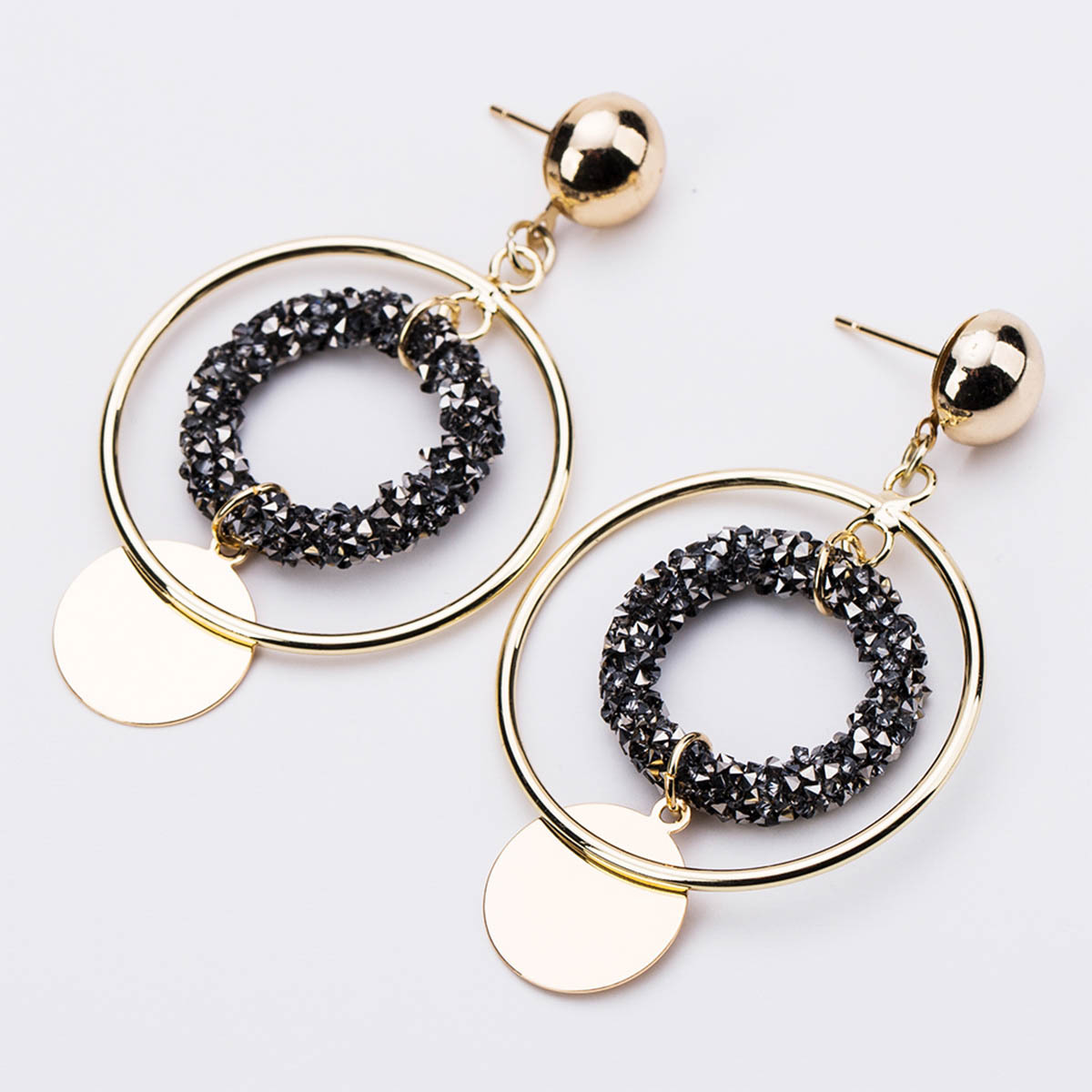 Alloy Fashion Geometric earring(white) NHJE1224-white