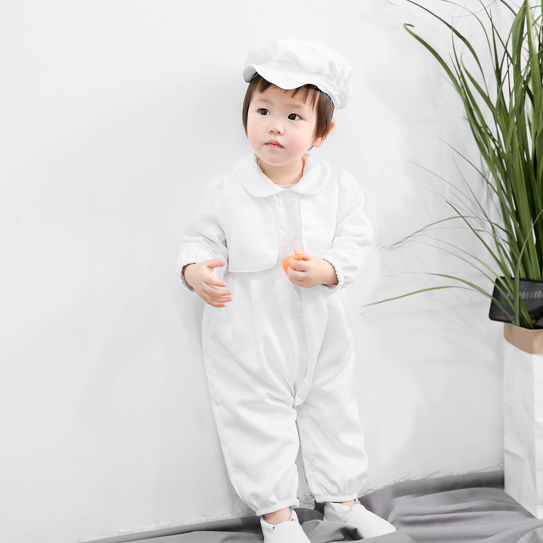 男童礼服欧洲洗礼服初生男宝宝满月周岁摆酒两件套帽子男童套装