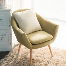 北歐現代簡約懶人沙發椅卧室小戶型單人客廳休閑布藝陽台單人沙發