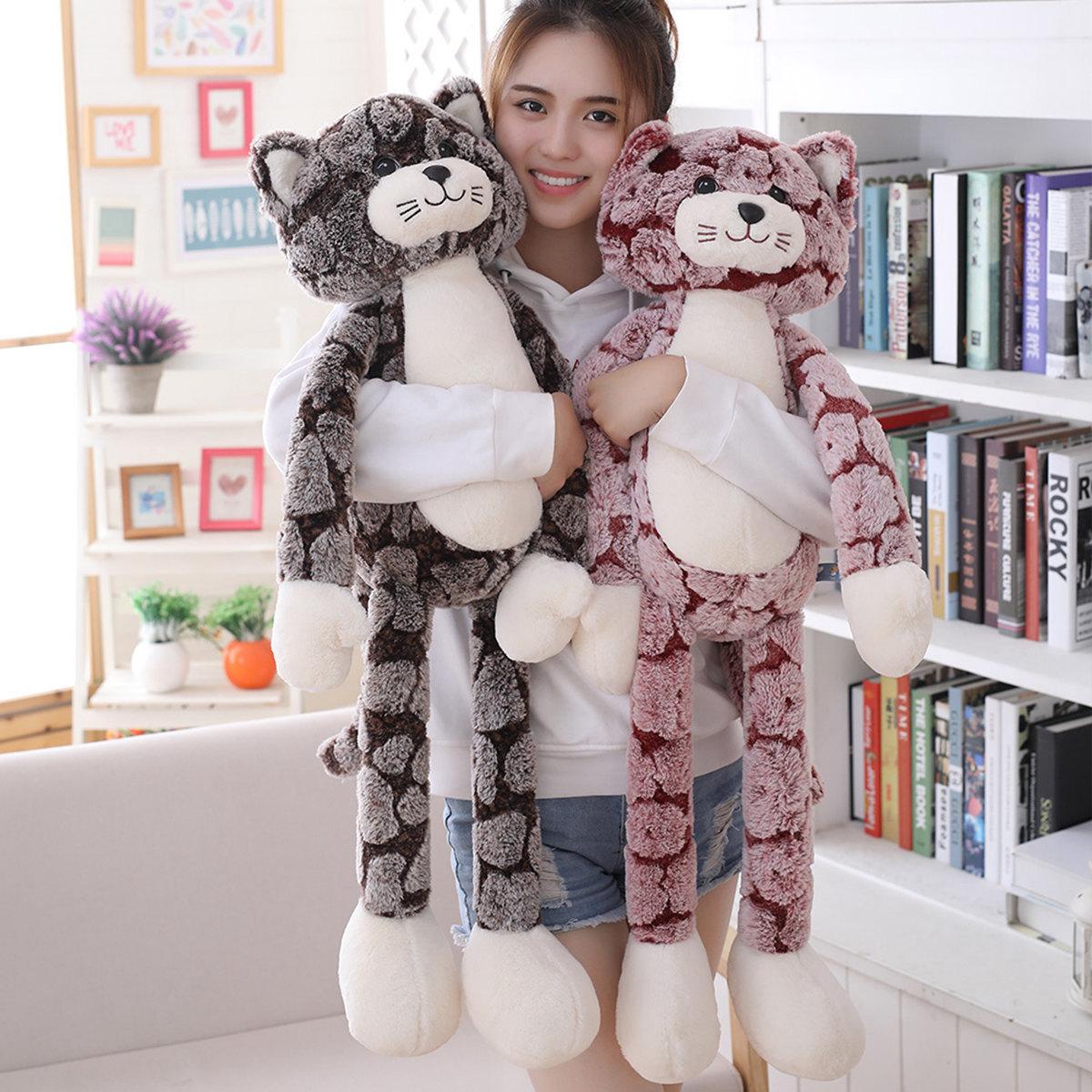 扬州米修跨境玩具酷吉猫公仔长腿抱抱猫大公仔生日礼物送女生