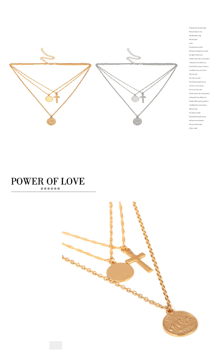 Alloy Fashion Geometric necklace  Alloy 1946 NHXR2454Alloy1946