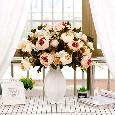 European-style core-spun peony flower living room home table decoration flower house decoration artificial flower