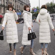 欧美风大码6xl棉衣女新款韩版冬季中长款过膝棉服连帽加厚棉袄批