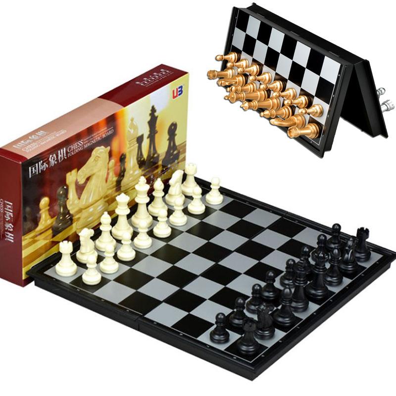 Друг государственный шахматы магнитный сложить шахматная доска поезд использование шахматы черно-белое золото и серебро кусок международный шашки шахматы