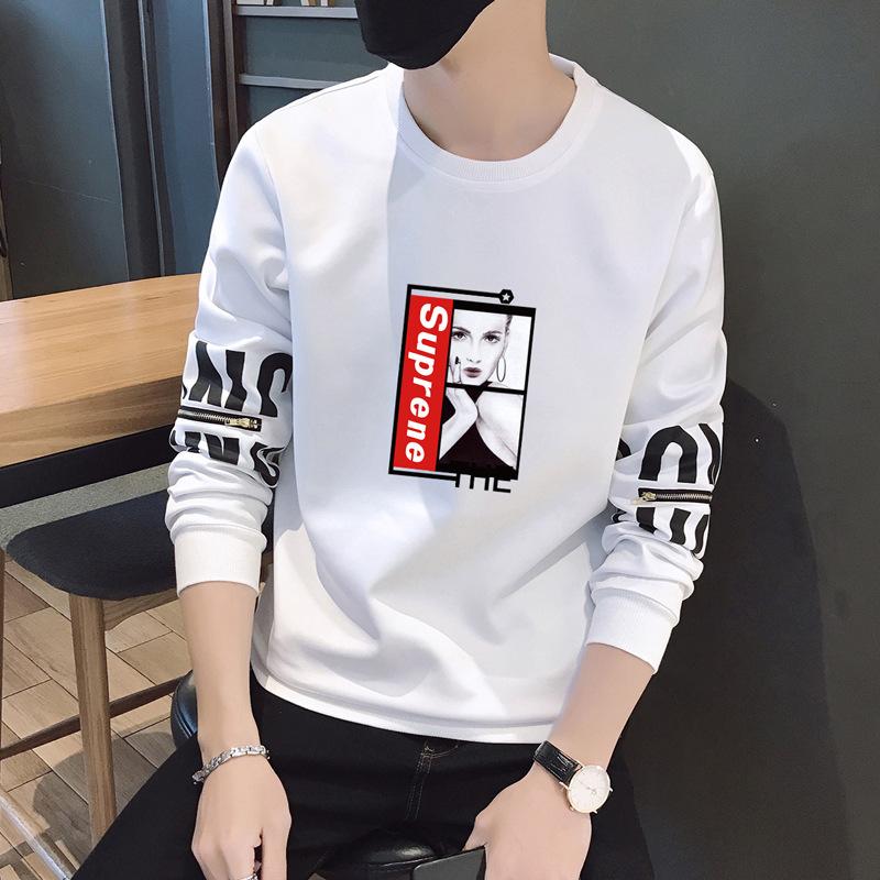男生外套薄款青少年圆领卫衣高中初中学生棒球服修身韩版潮流秋装