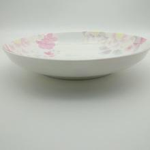 創意家用日用陶瓷五彩繽紛飯盤耐高溫 微波爐適用