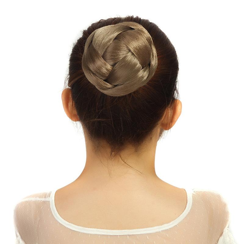 欧美女士假发发髻发包丸子头影楼古装复古风发髻花苞头盘发卷发包