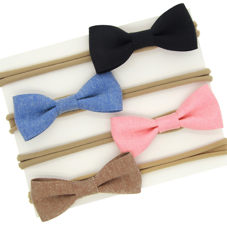 Alloy Fashion Bows Hair accessories  4color mixing  Fashion Jewelry NHWO06334colormixing
