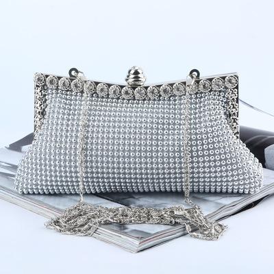 bead dinner party aluminum sheet evening party hand bag Diamond banquet party evening bag celebrity banquet bag