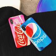 苹果8创意百事可乐蓝光手机壳iPhoneX/7Plus个性保护套6S全包潮男
