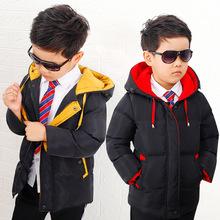 羽絨服兒童冬裝加厚棉衣連帽男童保暖棉服寶寶棉襖一件代發韓版