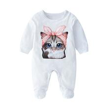 女婴儿连体衣服3个月春秋季秋款长袖男童宝宝哈衣新生儿爬服