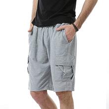 跨境货源男式宽松大码?#21487;?#20241;闲裤夏季新款户外运动中裤薄款五分裤
