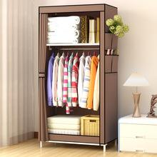 经济型易布衣柜不锈钢卧室组装塑料便携式卡通帆布寝室落地1.5