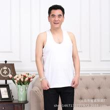 中老年男士棉吊带背心夏季薄款宽松大码白色老头衫爸爸无袖汗衫
