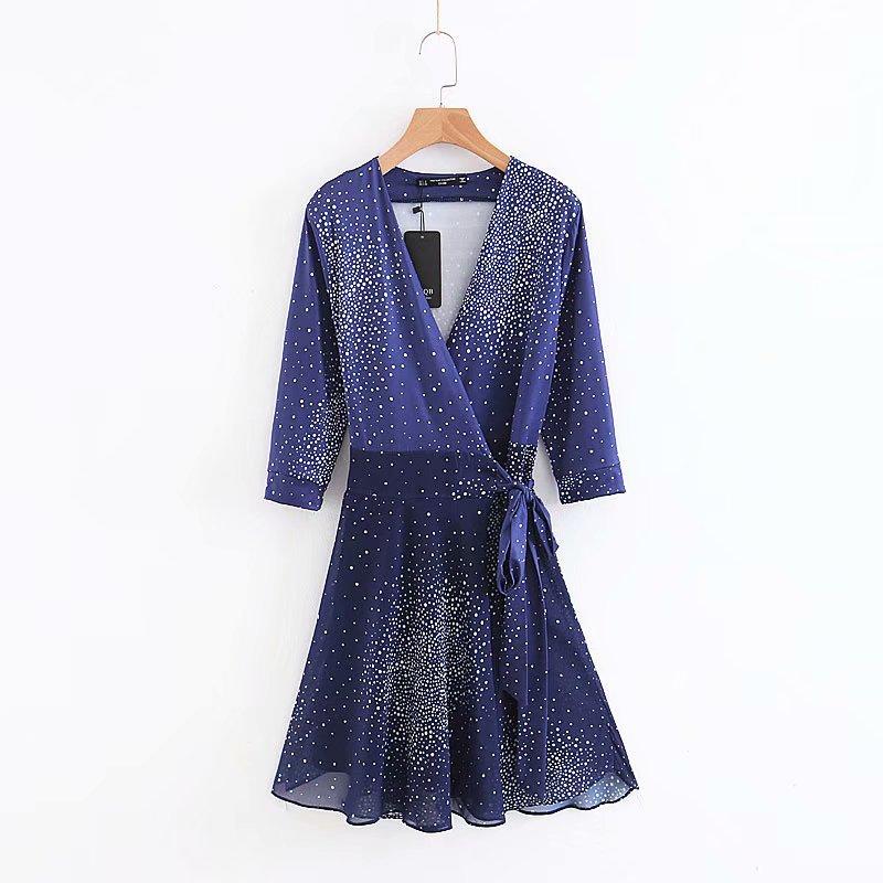Polyester Fashionskirt(Hidden Blue - L) NHAM4451-Hidden-Blue-L