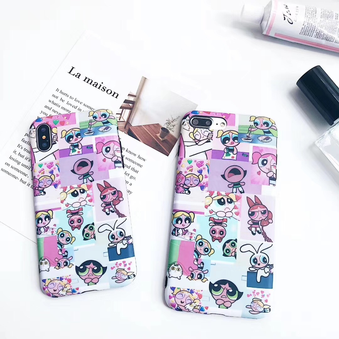 New cute flying small policewoman iPhone6s mobile phone Apple 8plus all-inclusive soft drop protection sleeve female models