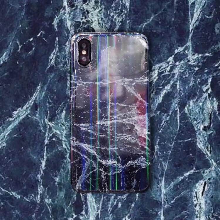 iPhone8plus marble pattern creative all-inclusive mobile phone case Apple 8pXIMD Aurora customizable protective cover