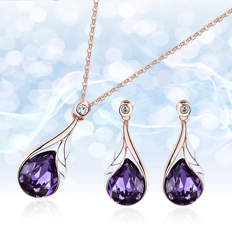 Alloy Korea  necklace  61172403 purple NHXS177461172403purple