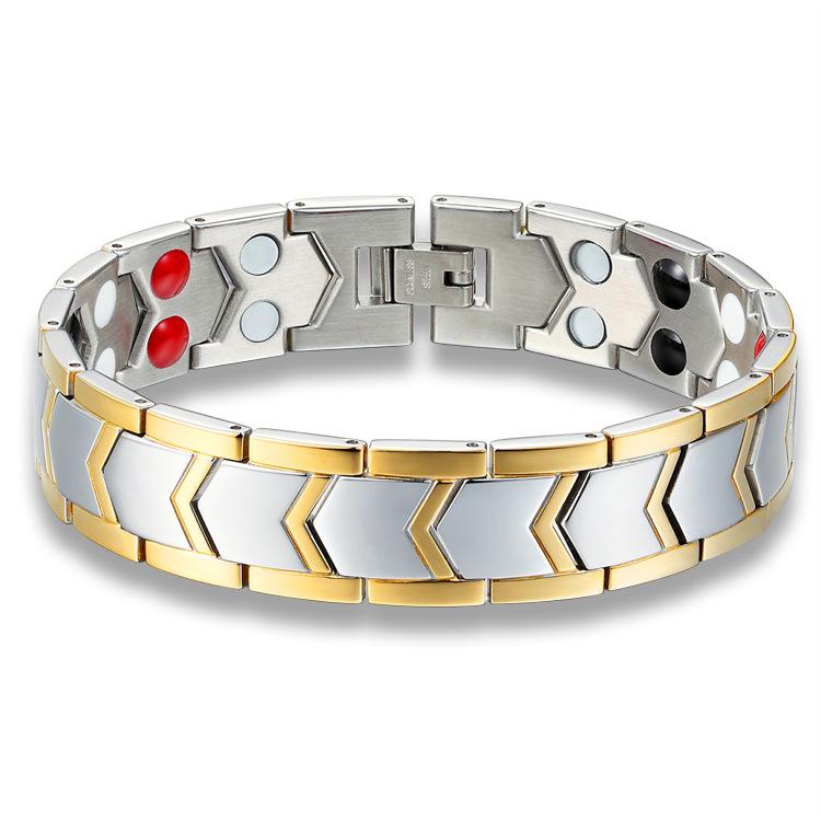Скорость продавать через крест граница специально для titanium ювелир двойной магнит браслет мужской браслет послать друзьям ES030