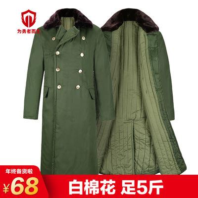 现货批发定制保安防寒服足5斤加厚棉大衣军绿85男式军大衣棉大衣