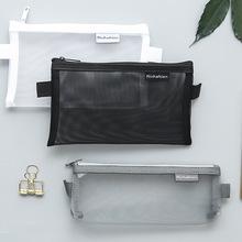 пенал студентов экзамены портативный карандаш мешок большой потенциал канцелярские сумки прозрачный марлю сумка, мешок молния типа файлов