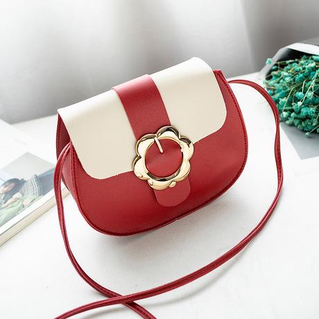 Túi đeo vai Nhật Bản và Hàn Quốc mới đơn giản thời trang mini pin khóa lợn túi màu sắc phù hợp cá tính