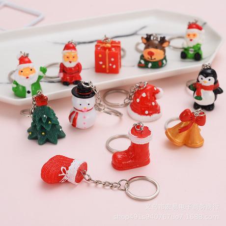Quà tặng Giáng sinh mới Giáng sinh Móc khóa Giáng sinh Quà tặng Giáng sinh Cây Giáng sinh Keychain Elk Keychain