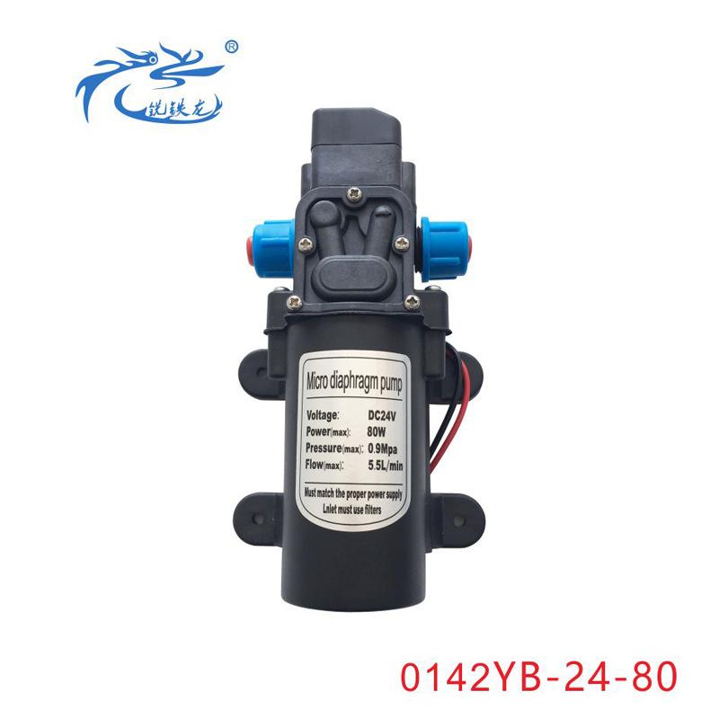 0142高壓電動洗車水泵 12V24V80W 自吸直流帶壓力開關 微型隔膜泵
