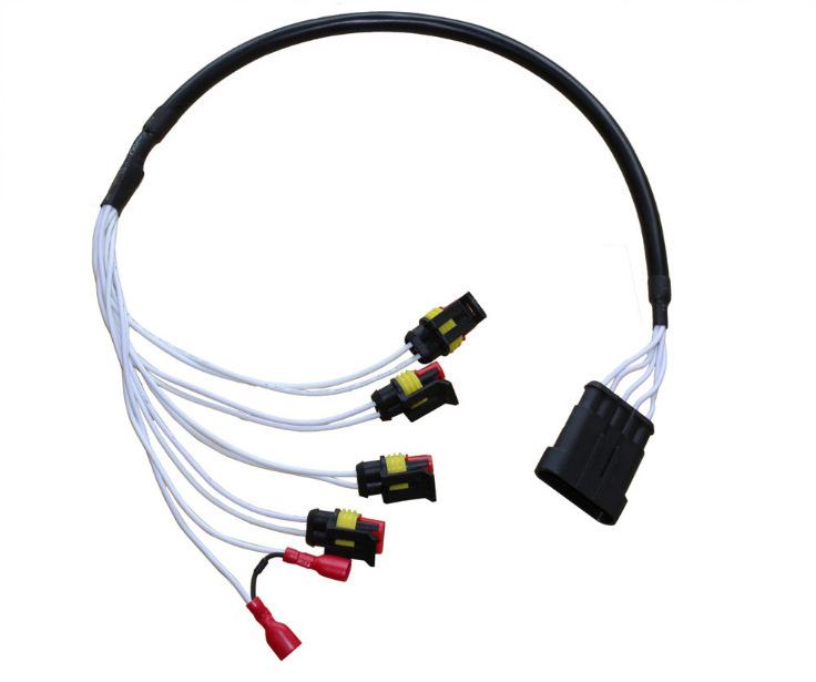 源头线束工厂汽车2芯孔连接器接插件 防水HID插头插座公母对接头