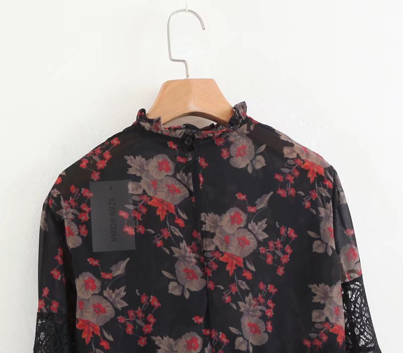 Sexy & Party Chiffon  shirt  (Picture color -S)  NHAM1495-Picture color -S