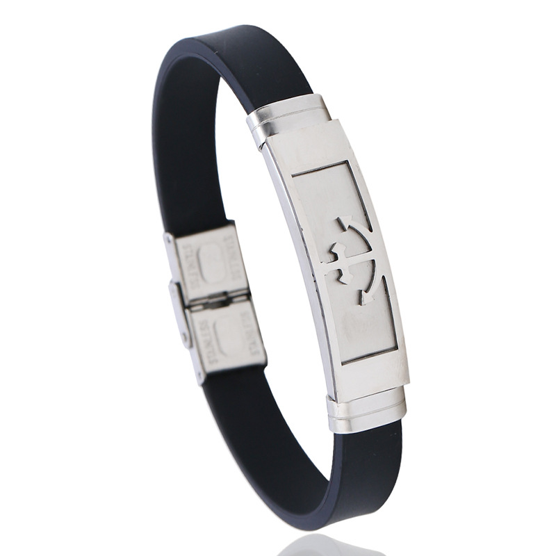 Titanium&Stainless Steel Fashion Geometric bracelet  (Photo Color) NHPK2206-Photo-Color