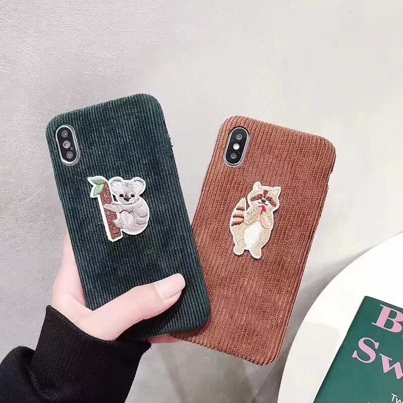Cute kitten paw embroidery sloth for apple 7plus mobile phone shell iphoneX/8p/6S soft silicone